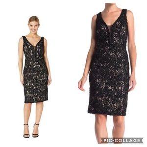 🆕🌻 NWT Marina Soutache Dress W/Illusion Neckline
